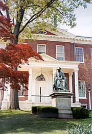 [photo, Roger Brooke Taney statue, State House grounds, Annapolis, Maryland]