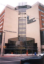 [photo, Homer S. Gudelsky Building, University of Maryland Medical System, South Greene St., Baltimore, Maryland]