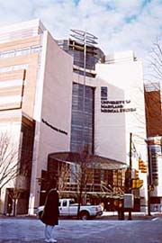 [photo, Homer S. Gudelsky Building, South Greene St., University of Maryland Medical System, Baltimore, Maryland]
