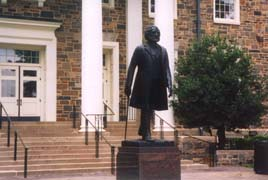 [photo, Frederick Douglass statue, Holmes Hall, Morgan State University, Baltimore, Maryland]