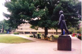 [photo, Frederick Douglass statue, Morgan State University, Baltimore, Maryland]