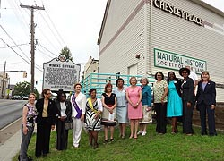 [photo, Members of 19th Amendment Commission & Maryland Commission for Women at Historic Marker unveiling, Overlea, Maryland, June 9, 2014]
