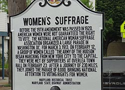 [photo, Women's Suffrage Historical Marker, Overlea, Maryland]