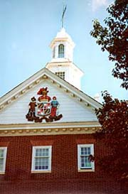 [photo, Goldstein Treasury Building cupola, Annapolis, Maryland]