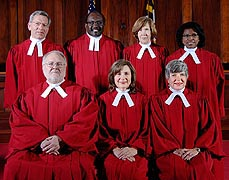 [photo, Court of Appeals Judges, Annapolis, Maryland, 2013]