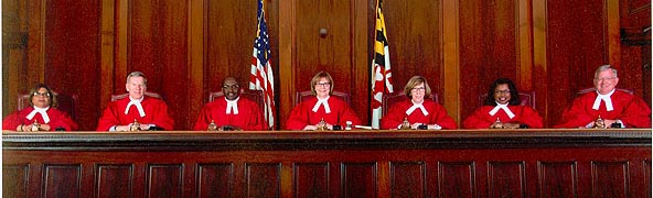 [photo, Court of Appeals Judges, Annapolis, Maryland, 2016]
