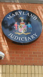 [photo, Maryland Judiciary sign at Education and Conference Center, Judicial College of Maryland, 2009 Commerce Park Drive, Annapolis, Maryland]
