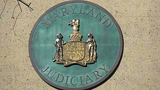 [photo, State Seal, Maryland Judicial Center, 580 Taylor Ave., Annapolis, Maryland]