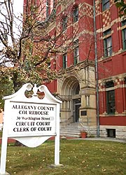 [photo, Allegany County Courthouse, 30 Washington St., Cumberland, Maryland]