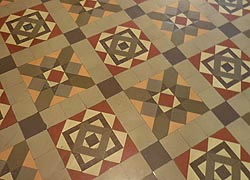 [photo, Tile floor, Allegany County Courthouse, 30 Washington St., Cumberland, Maryland]