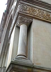 [photo, Corner column design, Allegany County Courthouse, 30 Washington St., Cumberland, Maryland]