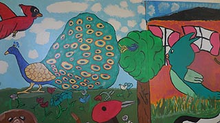 [photo, Children's mural, Anne Arundel County Animal Control Section, 411 Maxwell Frye Road, Millersville, Maryland]