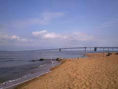 [photo, Sandy Point State Park near Chesapeake Bay Bridge (Anne Arundel County), Maryland]