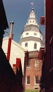 [photo, State House (view from Chancery Lane, Annapolis, Maryland]