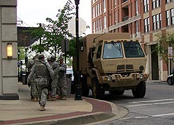 [photo, Maryland National Guard, Inner Harbor, Baltimore, Maryland]