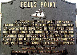 [photo, Fells Point historical marker, Fells Point, Baltimore, Maryland]