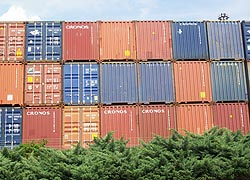 [photo, Shipping containers, Port of Baltimore, Baltimore, Maryland]