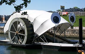 [photo, Mr. Trash Wheel, mouth of Jones Falls, Baltimore, Maryland]
