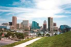 [photo, Baltimore skyline (view from west side of Federal Hill Park), Baltimore, Maryland]