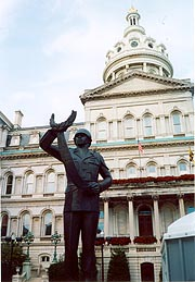 [photo, Negro Heroes of the U.S. Monument, by James E. Lewis (1972), City Hall, 100 North Holliday St., Baltimore, Maryland]