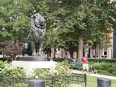 [photo, Seated Lion statue replica, by Antoine-Louis Barye, Mount Vernon Place, Baltimore, Maryland]