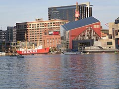 [photo, A view of Baltimore, Maryland, from the water]