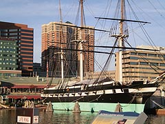 [photo, USS Constellation, Inner Harbor, Baltimore, Maryland]