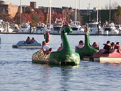 [photo, Dragon pedal boats, Inner Harbor, Baltimore, Maryland]