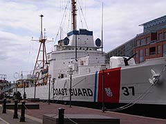 [photo, U.S. Coast Guard Cutter Taney, no. 37, (last surviving warship from attack on Pearl Harbor), Pratt St. (near Market Place), Baltimore, Maryland.]