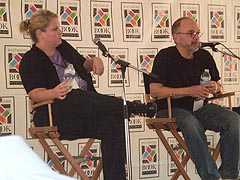 [photo, authors, Janine Driver and Wray Herbert, Baltimore Book Festival, Mount Vernon Place, Baltimore, Maryland]