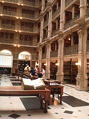 [photo, George Peabody Library, East Mount Vernon Place, Baltimore, Maryland]