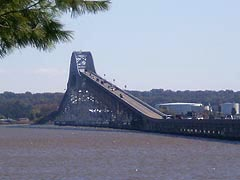 [photo, Governor Harry W. Nice Memorial Bridge over Potomac River, view from Virginia]