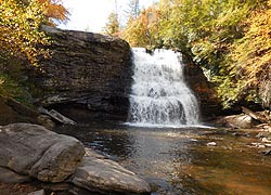 [photo, Muddy Creek Falls at Swallow Falls State Park, north of Oakland, Maryland]