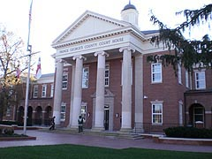 [photo, Prince George's County Courthouse, renovated Duvall Wing, Upper Marlboro, Maryland]