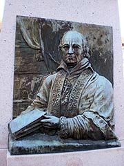 [photo, Archbishop John Carroll (1735-1815) Bicentennial Memorial (1976), by Felix de Weldon (1907-2003), Upper Marlboro, Maryland