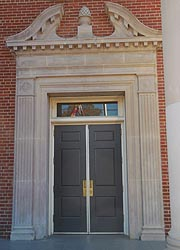 [photo, Prince George's County Courthouse entrance, Duvall Wing, Upper Marlboro, Maryland]