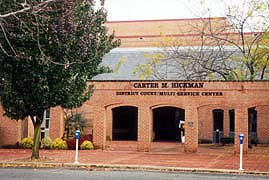 [photo, Carter M. Hickman District Court/Multi-Service Center, 120 Broadway, Centreville, Maryland]