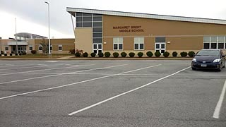 [photo, Margaret Brent Middle School, 29675 Point Lookout Road, Helen, Maryland]