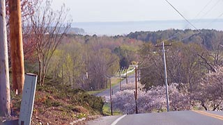 [photo, Breton Bay in distance, view from Society Hill Road, Leonardtown, Maryland]