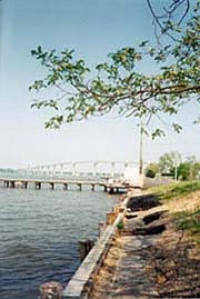 [photo, Patuxent River with Solomons Island Bridge in distance (from St. Mary's County), Maryland]