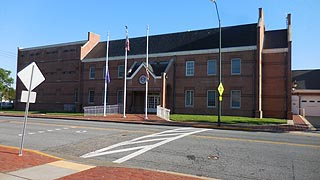 [photo, Talbot County Department of Corrections, Public Safety Center, 115 West Dover St., Easton, Maryland]