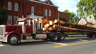[photo, Lumber truck, West Market St., Snow Hill, Maryland]