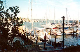 [photo, Sailboats at piers, Back Creek, Annapolis, Maryland]