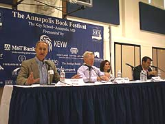 [photo, Afganistan Panel, Annapolis Book Festival, Key School, Annapolis, Maryland]