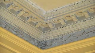[photo, Plaster cornice, James Brice House, 42 East St., Annapolis, Maryland]