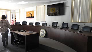 [photo, Meeting Room, Town Hall, 21 North Main St., Boonsboro, Maryland]