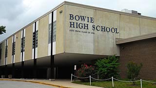 [photo, Bowie High School, 15200 Annapolis Road, Bowie, Maryland]