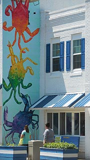 [photo, Crab mural, Crisfield, Maryland]