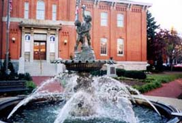 [photo, Fountain at City Hall, 101 North Court St., Frederick, Maryland]