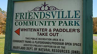 [photo, Community Park sign, Friendsville, Maryland]